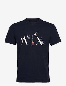 ARMANI EXCHANGE T-SHIRT - kortermede t-skjorter - navy