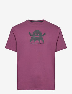 ARMANI EXCHANGE T-SHIRT - kortermede t-skjorter - grape wine