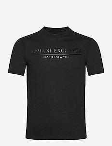 ARMANI EXCHANGE T-SHIRT - kortermede t-skjorter - black