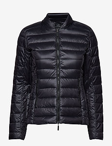WOMAN WOVEN DOWN JACKET - doudounes - black