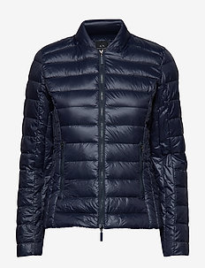 WOMAN WOVEN DOWN JACKET - doudounes - navy