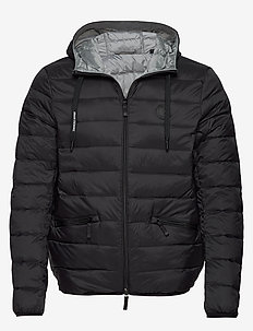 ARMANI EXCHANGE DOWN JACKET - doudounes - black/grey meange