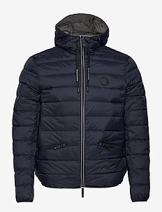 ARMANI EXCHANGE DOWN JACKET - doudounes - navy/melange grey