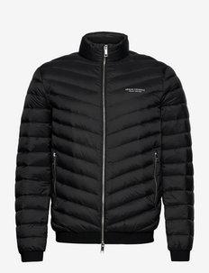 Jacket - vestes matelassées - black/melange grey b