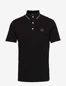 MAN JERSEY POLO SHIRT - BLACK