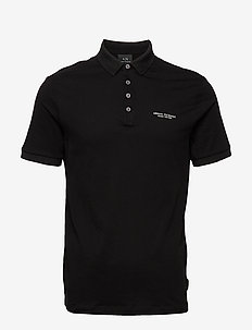 MAN JERSEY POLO SHIRT - À manches courtes - black