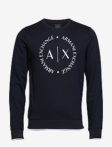 MAN JERSEY SWEATSHIRT - basic sweatshirts - navy