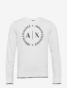 MAN JERSEY SWEATSHIRT - basic sweatshirts - white
