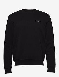 MAN JERSEY SWEATSHIRT - basic sweatshirts - black