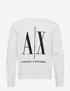 AX MAN SWEATSHIRT - sweats - white
