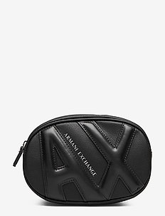 AX WOMAN LEATHER GOODS - sacs banane - black/black