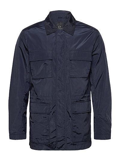 Armani Exchange Caban Coat Dünne Jacke Blau ARMANI EXCHANGE