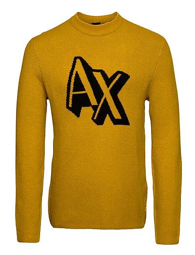Pullover Strickpullover Rundhals Gelb ARMANI EXCHANGE