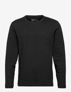 JOHAAN FLAAME AAA - långärmade t-shirts - black