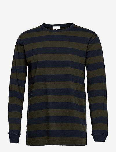 ELMAAR STRIPES - långärmade t-shirts - dark pine-depth navy