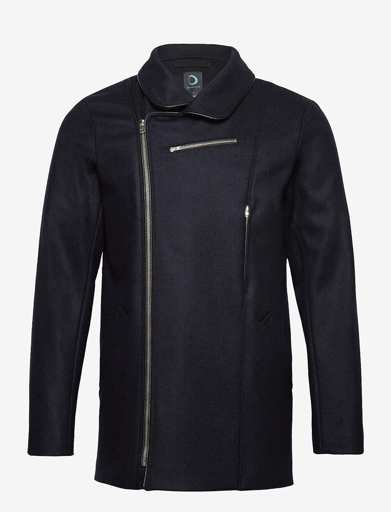 Armor Lux - Pea Coat ''Malo'' - wool jackets - navire - 0