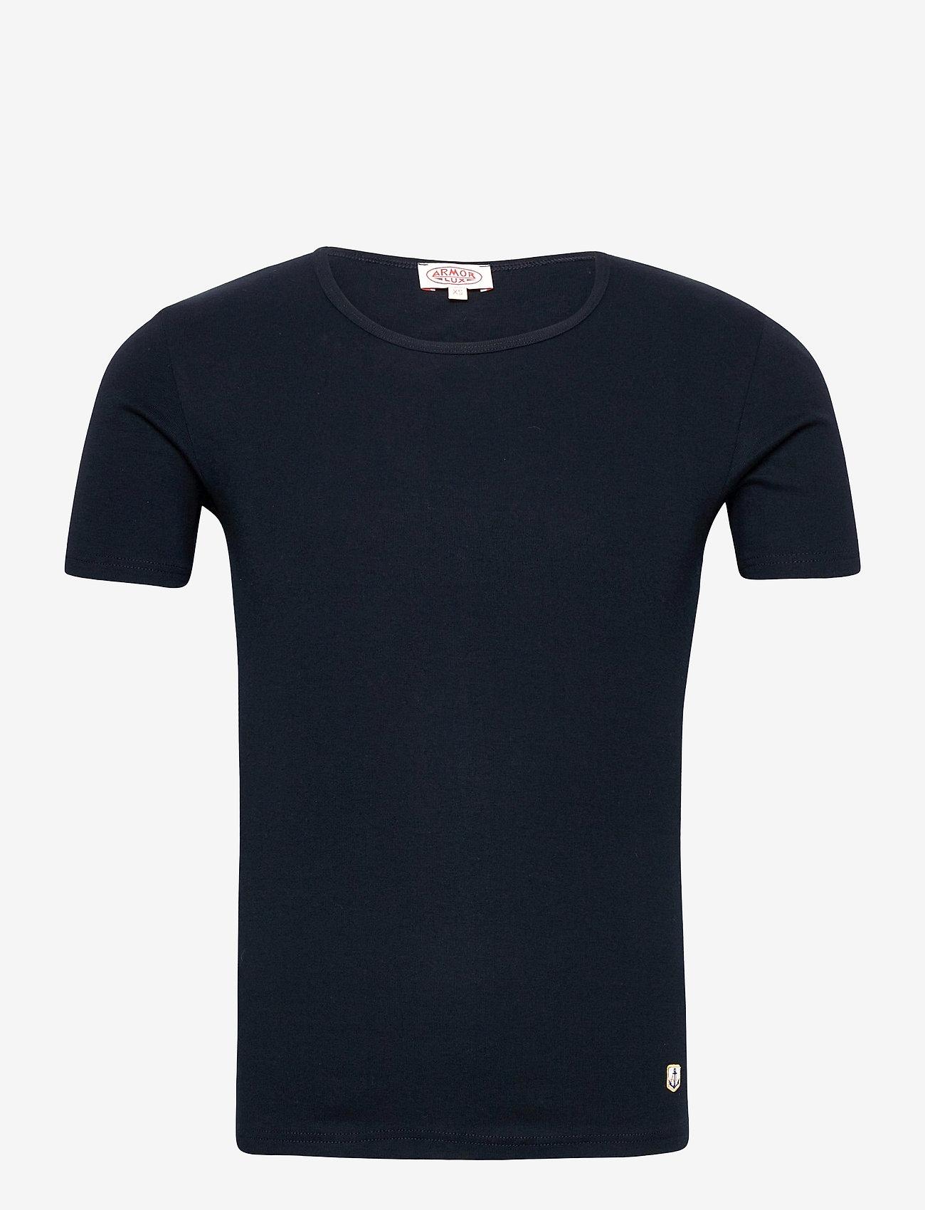 Armor Lux - 2 Pack T-Shirt - t-shirts basiques - blanc/rich navy - 0