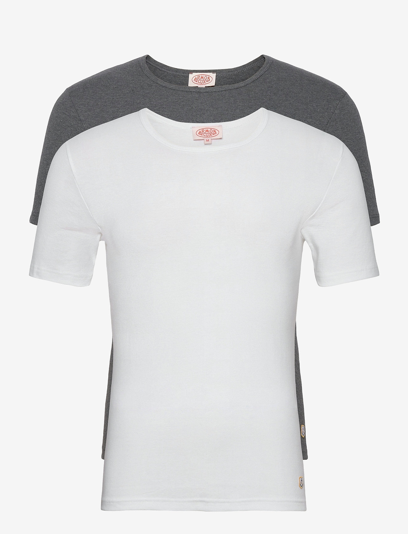 Armor Lux - 2 Pack T-Shirt - multipack - white/marl grey - 0