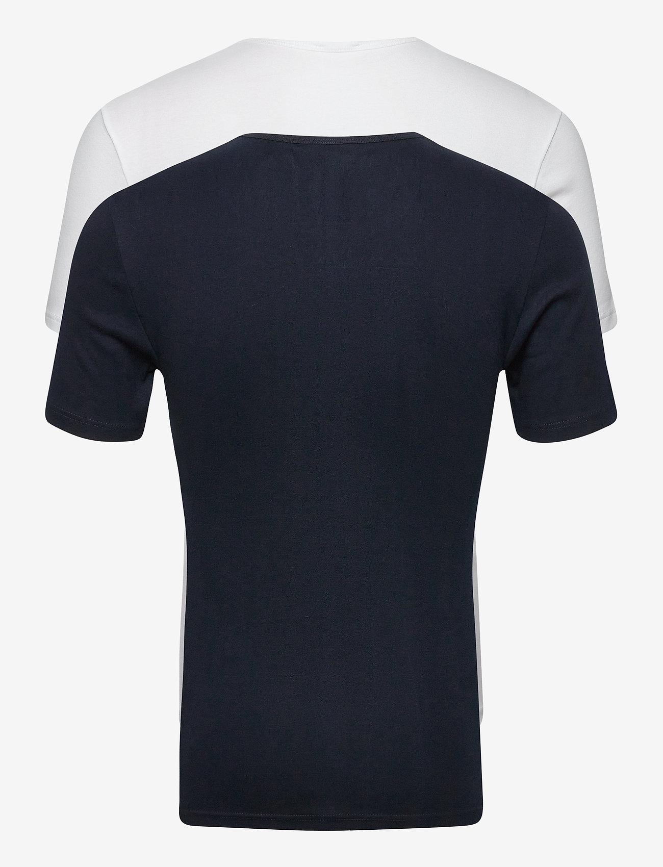 Armor Lux 2 Pack Round necked T-Shirt - T-skjorter WHITE/NAVY - Menn Klær