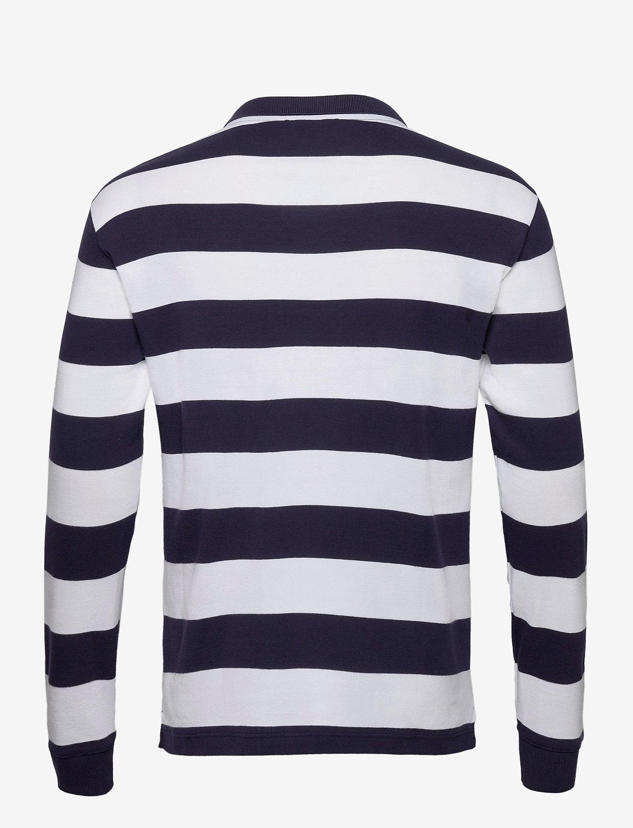 """Armor Lux - Striped  Polo Shirt """"Pleuven"""" - langärmelig - navy/white - 1"""
