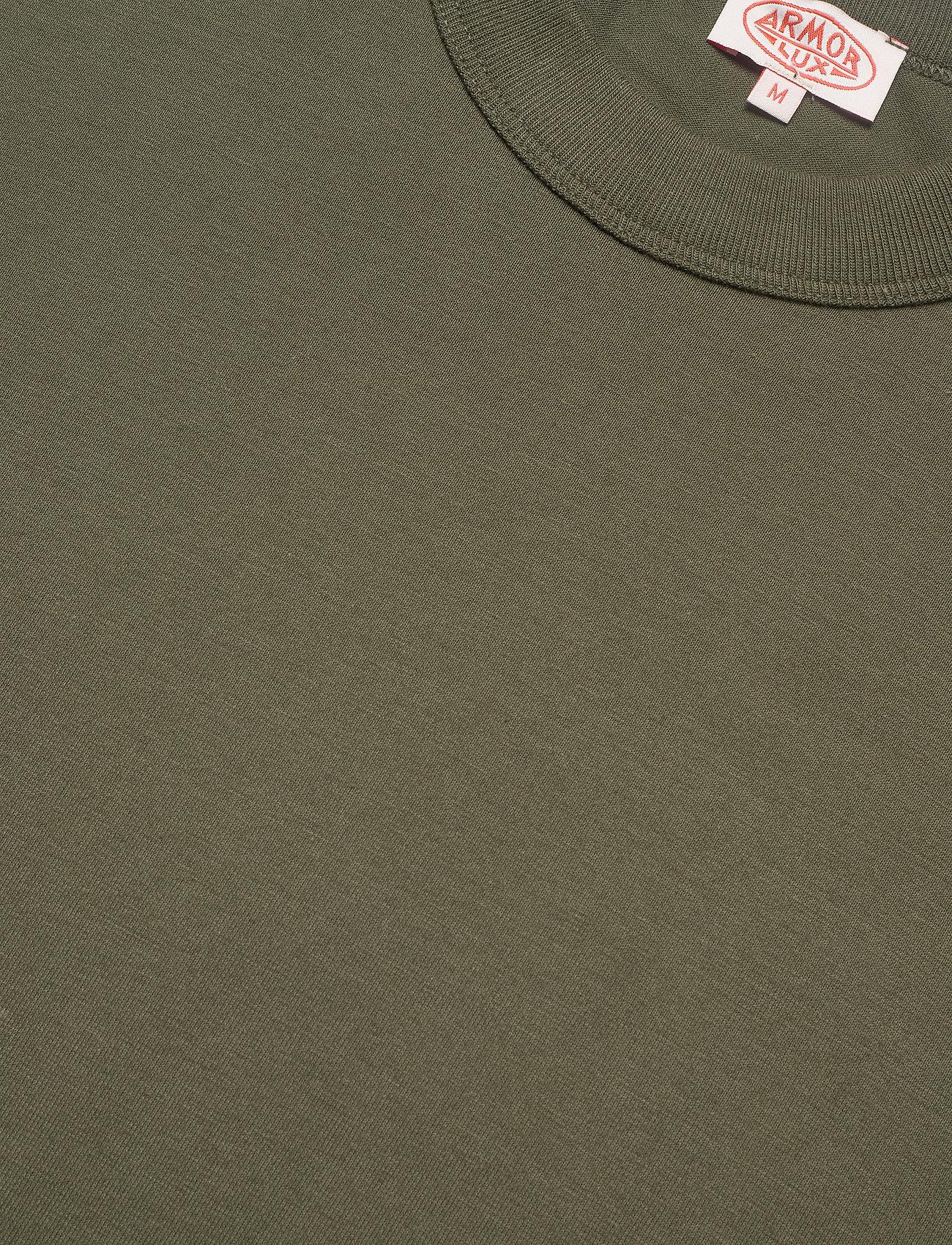 Armor Lux Round Neck T-Shirt - T-skjorter ARMY KHAKI - Menn Klær