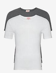 2 Pack T-Shirt - WHITE/MARL GREY