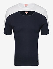 Armor Lux - 2 Pack T-Shirt - t-shirts basiques - white/navy - 0
