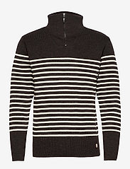 Striped Mariner Sweater Héritage - RUSTY RED CHINé/NATURE