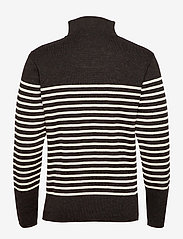 Armor Lux - Striped Mariner Sweater Héritage - half zip - rusty red chiné/nature - 1