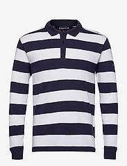 """Armor Lux - Striped  Polo Shirt """"Pleuven"""" - langärmelig - navy/white - 0"""