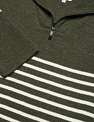Armor Lux - Striped Mariner Sweater Héritage - half zip - epicea chiné/nature - 2