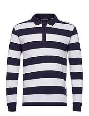 """Striped  Polo Shirt """"Pleuven"""" - NAVY/WHITE"""
