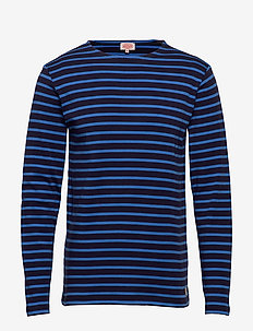Original Breton Striped shirt - długi rękaw - navire/lapis