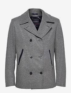 """Pea Coat """"Fort Cigogne"""" - vestes en laine - slate/navire"""