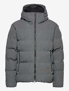 Quilted jacket - forede jakker - gris chine fonce
