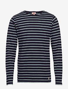Original Breton Striped shirt - długi rękaw - navire/marsouin
