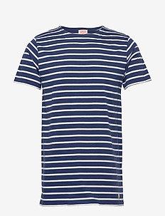 Original Breton Striped shirt - kurzärmelig - oceano/blanc