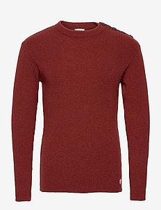 Mariner Sweater Héritage - basic-strickmode - sienne chiné