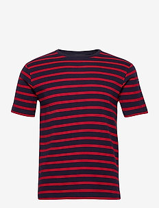 "Breton Striped Shirt ""Morgat"" - kortærmede t-shirts - navy/red"