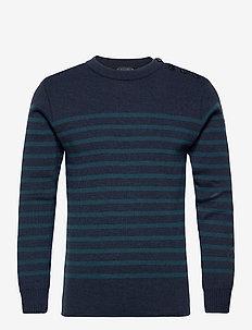 "Mariner Sweater ""Paimpol"" - rundhals - navire chiné/stewart"