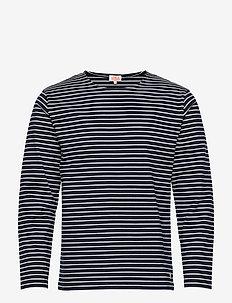 Breton Shirt Héritage - langærmede t-shirts - rich navy/milk