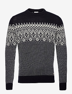 Sweater Jacquard Héritage - pulls col rond - rich navy/nature