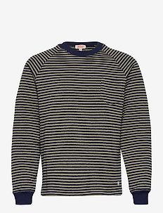 Sweater Raglan Héritag - sweats - navy/khaki