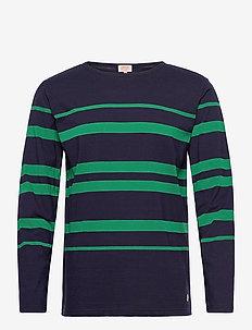 Striped Breton Shirt Héritage - t-shirts à manches longues - navy/green