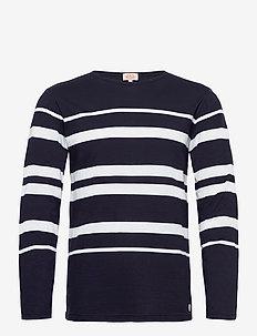 Striped Breton Shirt Héritage - t-shirts à manches longues - navy/white