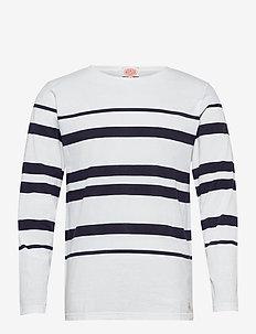 Striped Breton Shirt Héritage - t-shirts à manches longues - white/navy