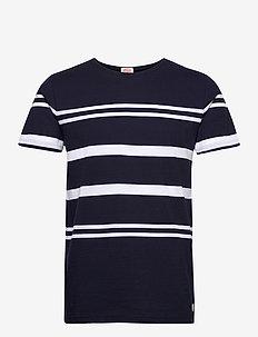 Striped Beton Shirt Héritage - t-shirts à manches courtes - navy/ white
