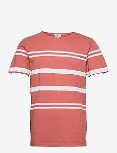 Striped Beton Shirt Héritage - t-shirts à manches courtes - rosewood/white