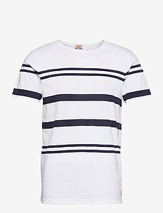 Striped Beton Shirt Héritage - t-shirts à manches courtes - white/ navy