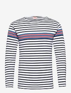 Breton striped Shirt Héritage - t-shirts à manches longues - white/navy/blue/rosewood